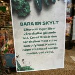 'Just a sign': What a supermarket sign tells us about Sweden and Covid-19