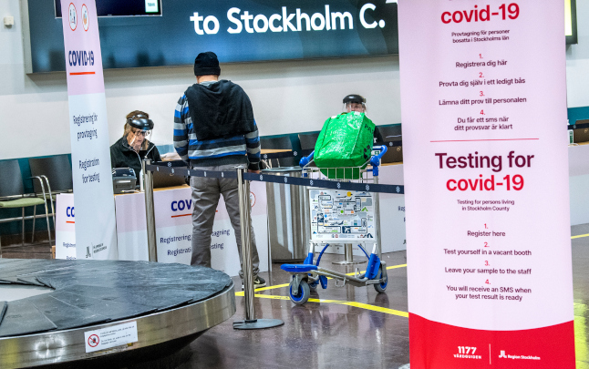 Sweden's Public Health Agency proposes lifting entry ban on travel from Denmark and Norway