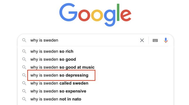 Why is Sweden so depressing? The Local answers Google's questions