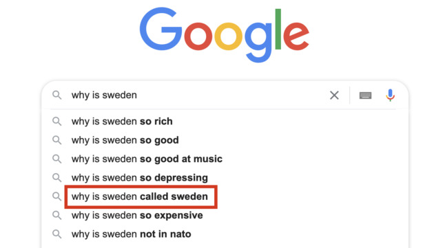 Why is Sweden called Sweden?The Local answers Google's questions
