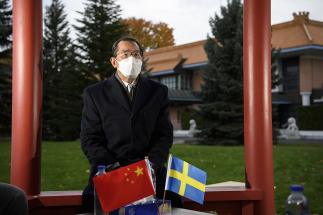 China's ambassador criticises Sweden over support for Taiwan