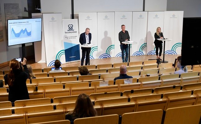 The Swedish authorities' Covid-19 briefings returned to being held in person this week